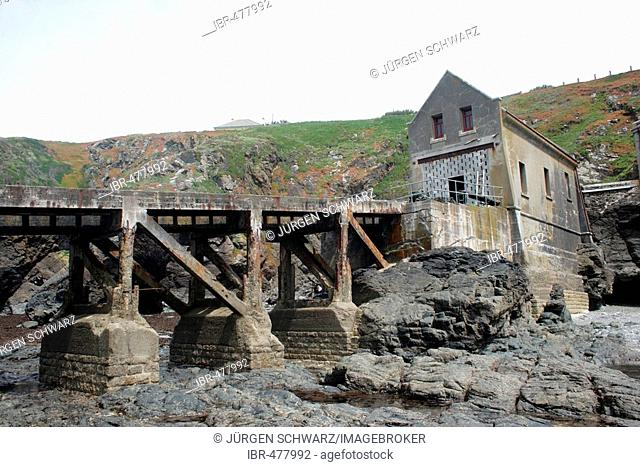 Old former lifeboat station at the Lizard, Cornwall, UK