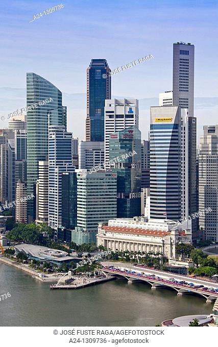 Singapore City, Down Town Skyline, Fullerton Hotel