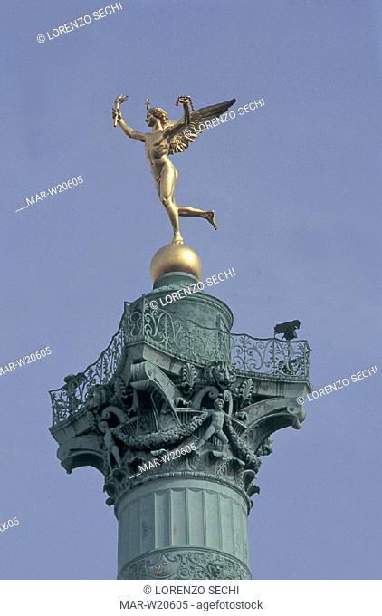 france, paris, place de la bastille, obelix