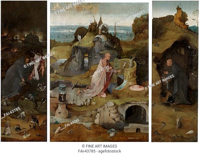 The Hermit Saints Triptych by Bosch, Hieronymus (c. 1450-1516)/Oil on wood/Early Netherlandish Art/ca. 1493-1505/The Netherlands/Palazzo Ducale, Venice/86