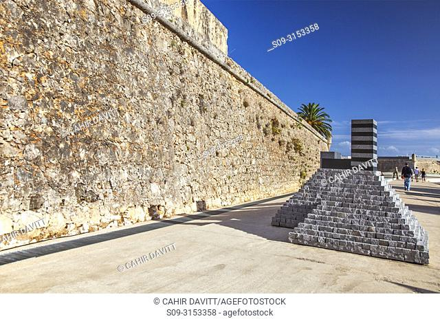 The walls of the old fort of Cascais, now converted into the Pousada de Cascais - Cidadela Historic Hotel, designed by the architects