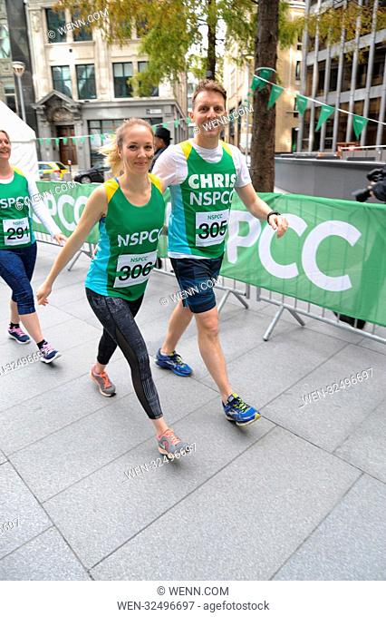 Coronation Street actor Chris Harper Takes on the Gherkin Challenge for the NSPCC. The Gherkin London, Sunday 22nd October Featuring: Chris Harper