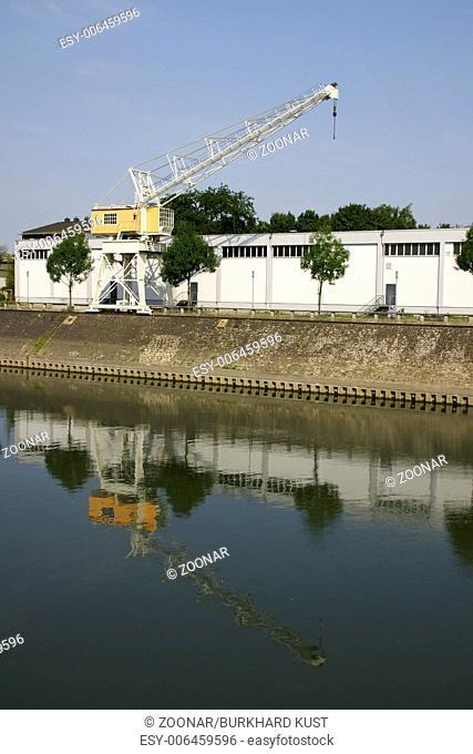 Dockside crane, Inner harbor Duisburg, Germany