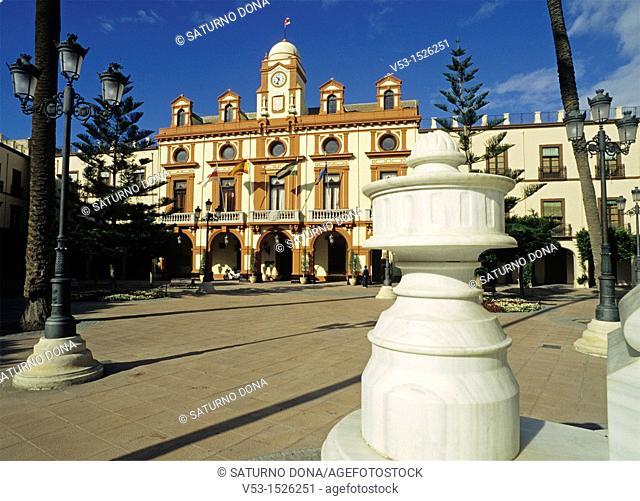 Plaza Vieja and Town Hall, Almeria, Andalucia, Spain