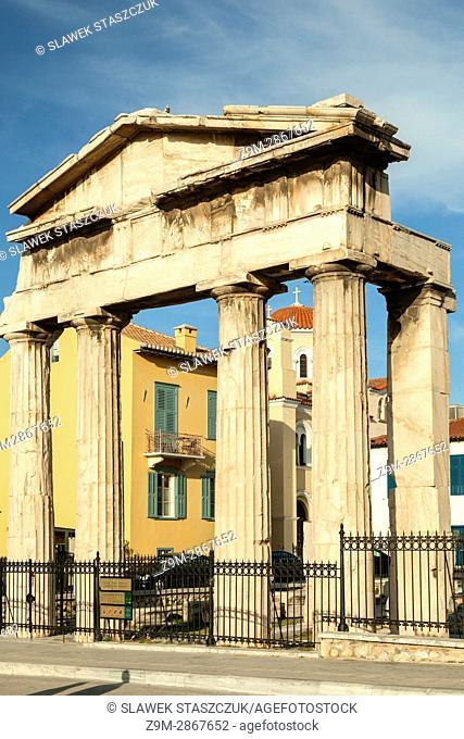 Athena Archegetis gate near Acropolis, Athens, Greece