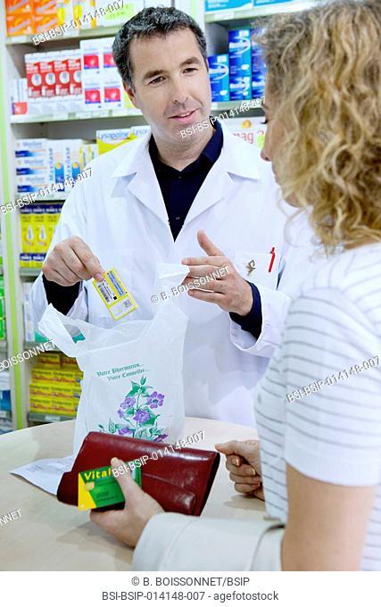 Woman in a pharmacy
