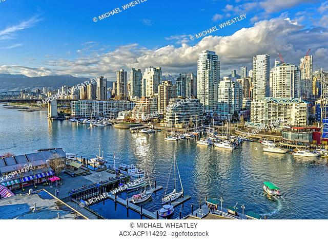 False Creek, West End Highrises, Vancouver, British Columbia, Canada
