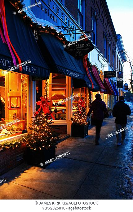 Woodstock, Vermont During Christmas