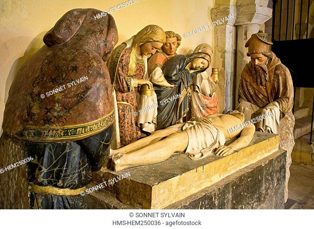 France, Nievre, Nevers, Saint Cyr Sainte Julitte Cathedral, the Entombment of Christ