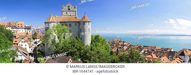 Meersburg castle, also known as Alte Burg castle, in Meersburg with views over Lake Constance, Baden-Wuerttemberg, Germany, Europe