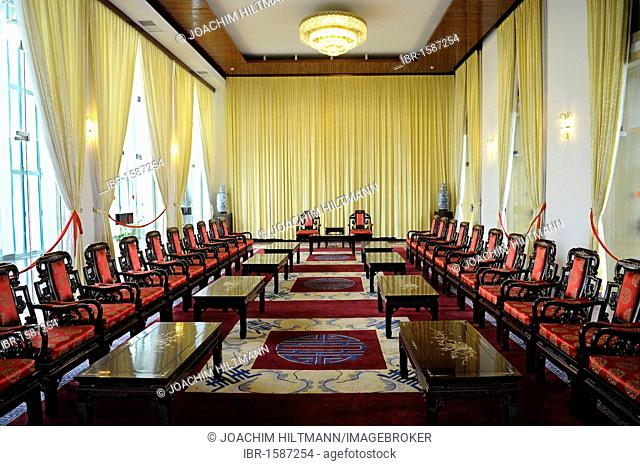 Conference room in the Palace of Reunification, Reunification Hall, former seat of government, Ho Chi Minh City, Saigon, South Vietnam, Vietnam, Southeast Asia