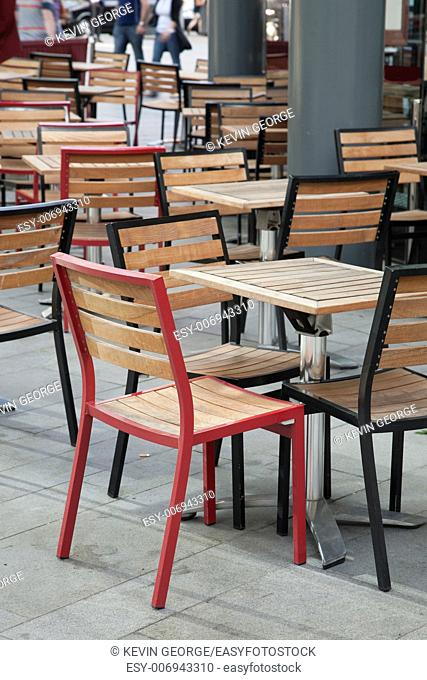 Cafe Table and Chairs in Urban Setting
