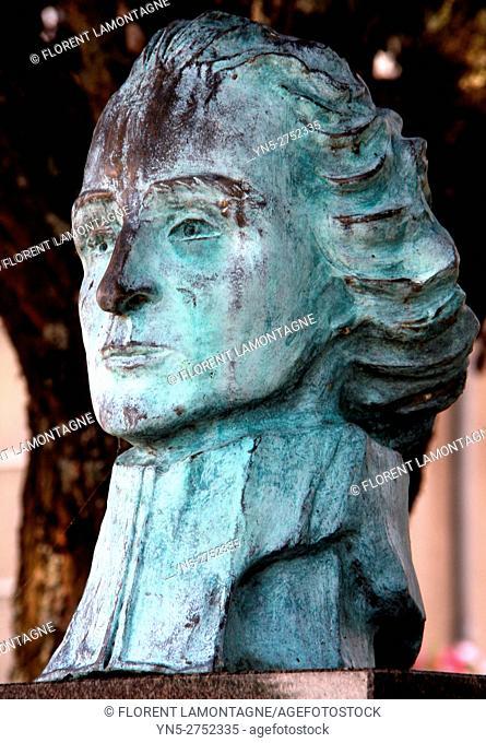 Bust of priest Abbé Grégoire, Embermenil village, Meurthe et Moselle, Lorraine, france