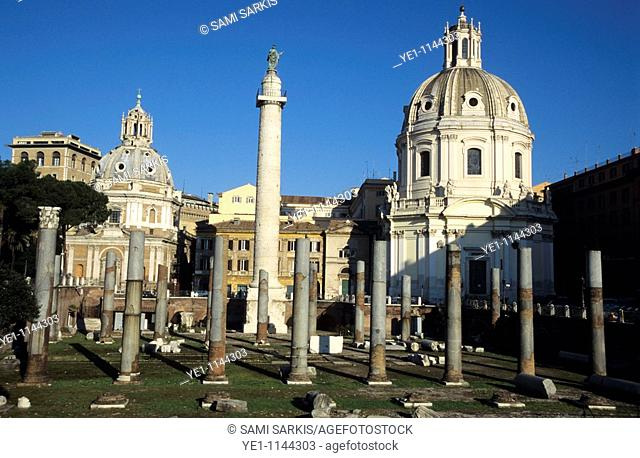 Ruins from the Roman Forum, Rome, Italy