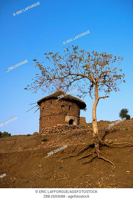 Ethiopia, Amhara Region, Lalibela, traditional house for the monks