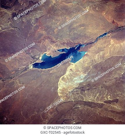 Ezequil Ramos Mexia Reservoir, Argentina January 1997 There are two separate reservoirs along this section of the Rio Limay in northern Patagonia