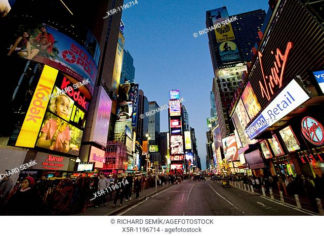 Times Square at night, Manhattan, New York City, USA
