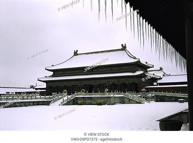 Snowscape In The Forbidden City,Beijing,China