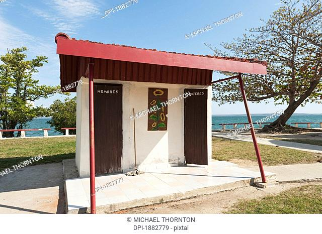Toilet Block At Punta Gorda, Cienfuegos, Cuba