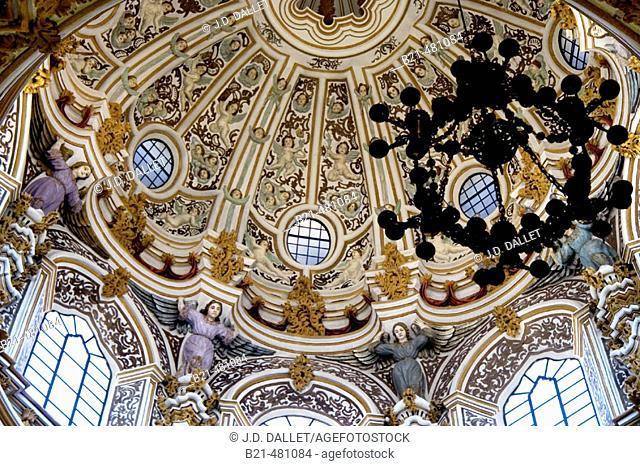 Cupula of Las Angustias church at Granada. Spain
