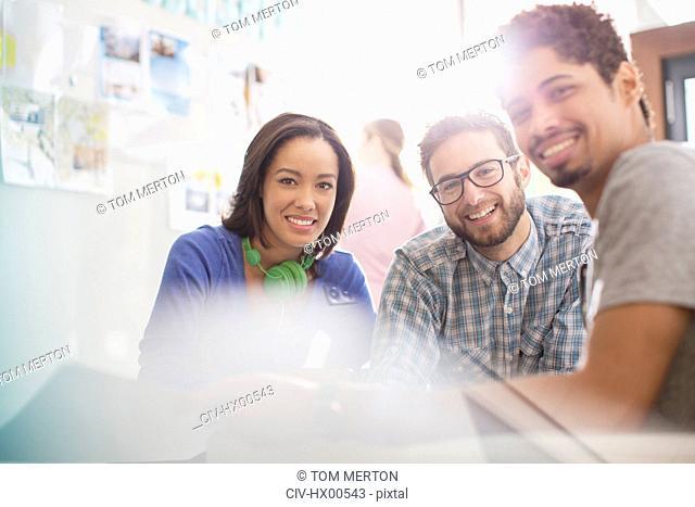 Portrait confident creative business people