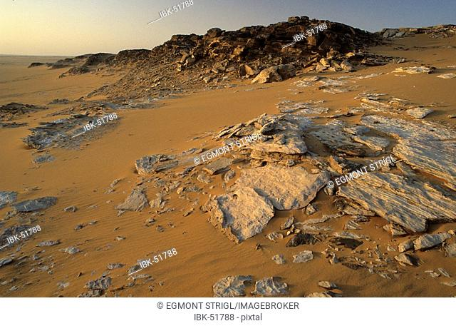 Rock formations in the libyan desert