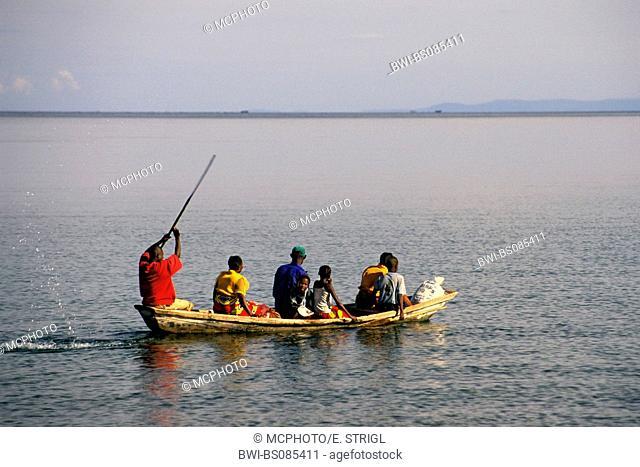 piroge on Lake Tanganyika, Zambia