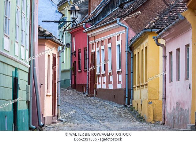 Romania, Transylvania, Sighisoara, Old Town building details