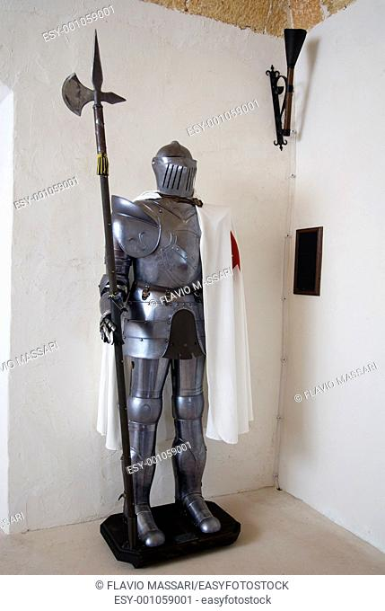 Fake Medieval armour, used as decoration in a private home