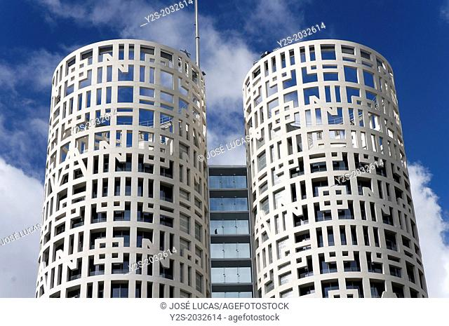 Towers of Hercules Business Center, Los Barrios, Cadiz-province, Region of Andalusia, Spain, Europe
