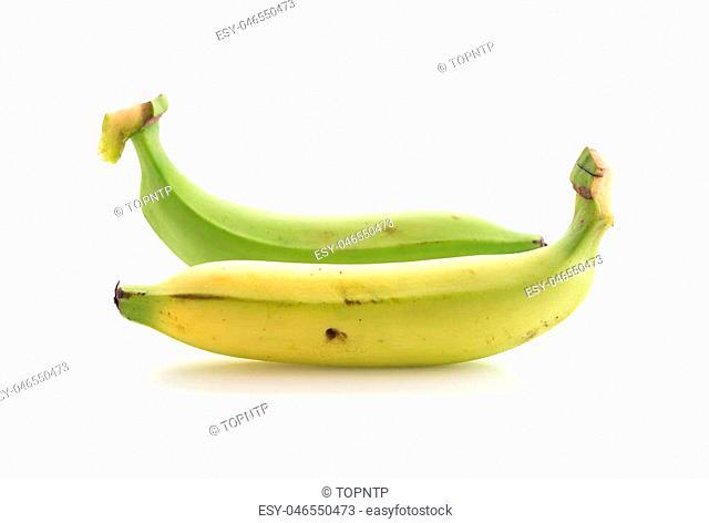 fresh banana on white background