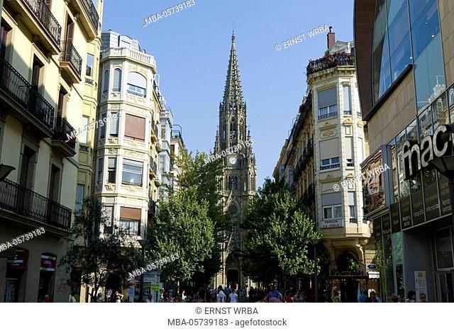 Cathedral Buen pastor, Donostia-San Sebastián, Gipuzkoa, the Basque Provinces, Spain