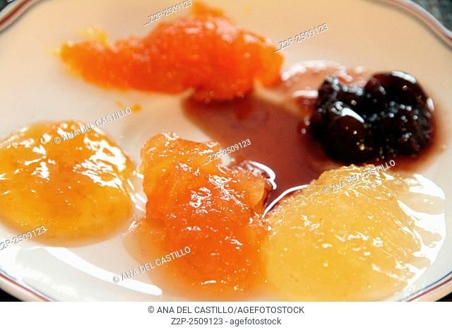 Marmalades on plate