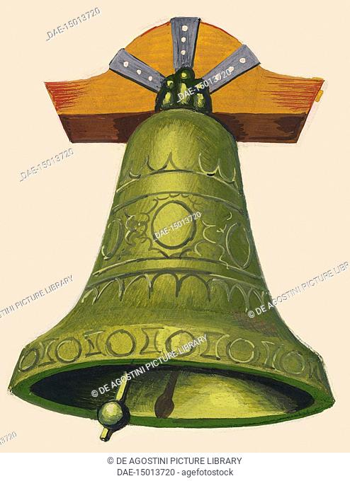A bell, drawing