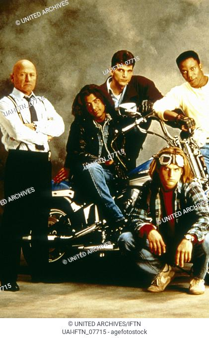 Sunset Beat, aka: Sunset Beat - Die Undercover Cops, USA 1990, , Regie: Bill Corcoran, Sam Weisman, Darsteller: George Clooney (Motorrad)