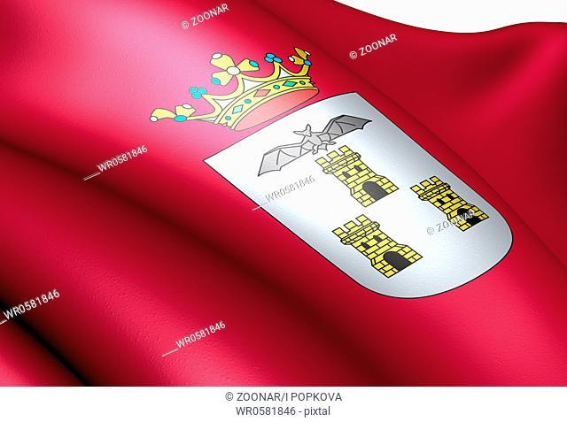 Flag of Albacete. Close up