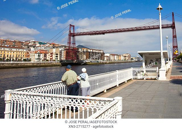 Las Arenas, The Vizcaya Bridge, commonly called Puente Colgante, is a transporter bridge that links the towns of Portugalete and Las Arenas district of Getxo