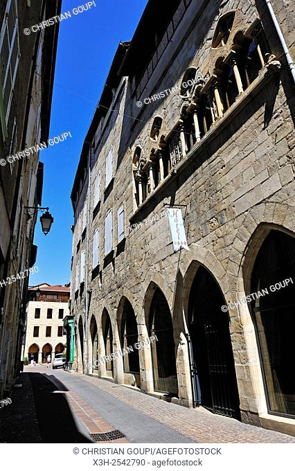 city of Figeac, Lot department, region of Midi-Pyrenees, southwest of France, Europe