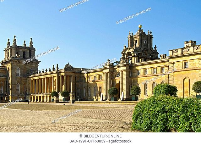 Image of Blenheim Castle near Oxford, South East England
