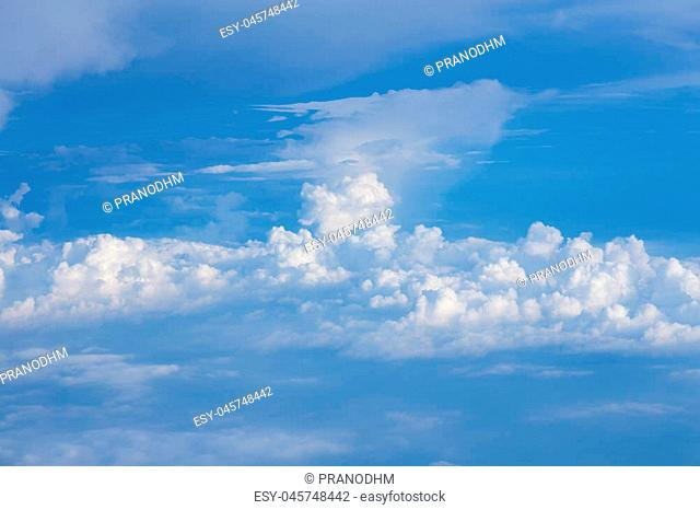 Cloudscape background, Blue sky and white cloud