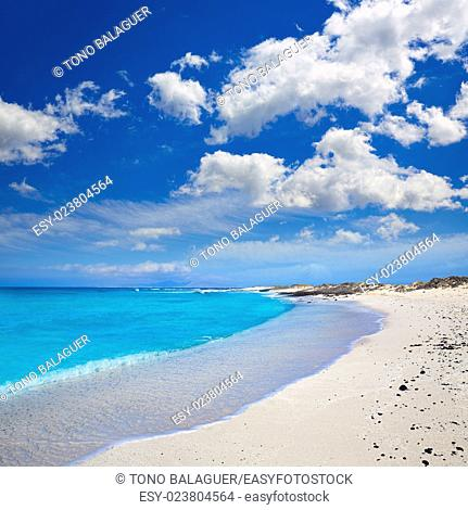 Majanicho beach in Fuerteventura at Canary Islands of Spain