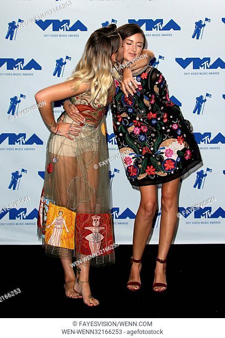 MTV Video Music Awards (VMA) 2017 Press Room, held at the Forum in Inglewood, California. Featuring: Paris Jackson, Caroline D'more Where: Inglewood, California