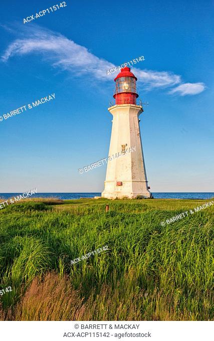 Lighthouse, New Victoria, Cape Breton, Nova Scotia, Canada