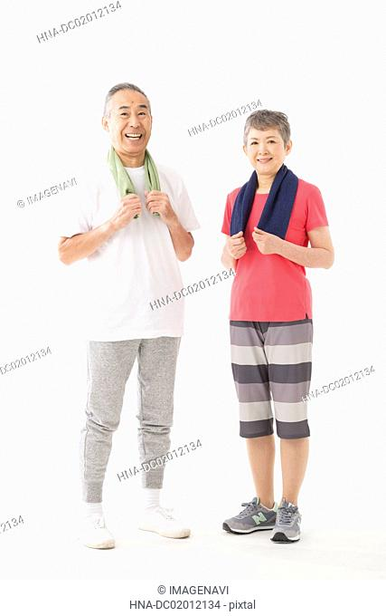 Senior couple with energy