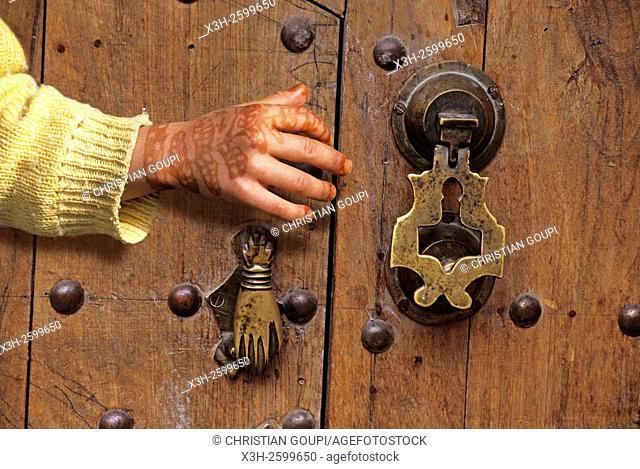doorknocker, Marrakech, High-Atlas, Morocco, North Africa