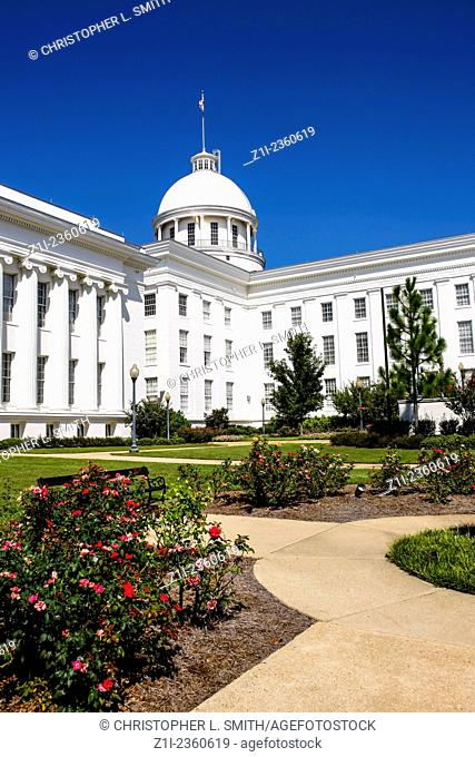 """The Alabama State Capitol Building on """"""""Goat Hill"""""""" in Montontgomery"""