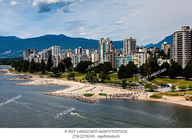 View of English Bay, Vancouver, from the Burrard Bridge