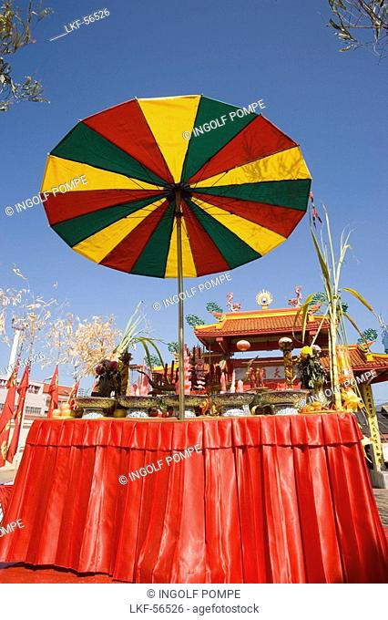 Part of the Put Jaw Temple, the oldest Chinese Taoist temple in Phuket, Phuket Town, Phuket, Thailand