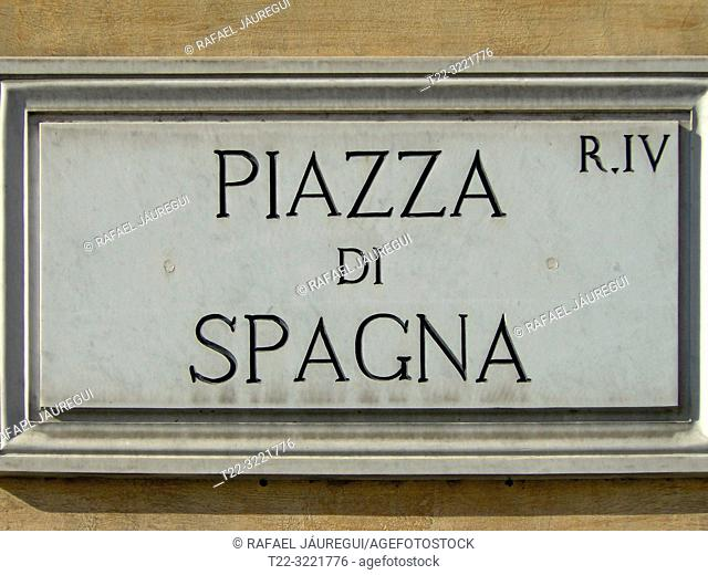 Rome (Italy). Spain Square of the city of Rome
