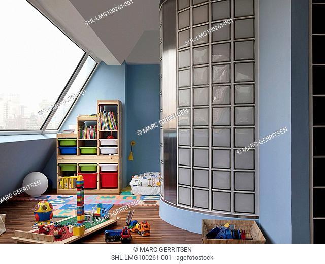 Kids playroom in modern home